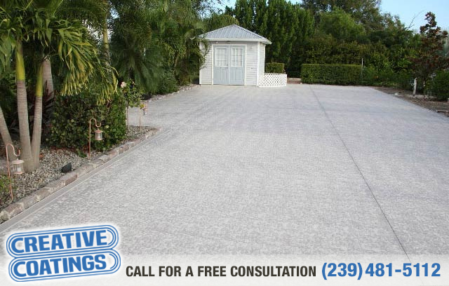 Driveway concrete coatings in ft myers fl for Landscaping rocks fort myers fl