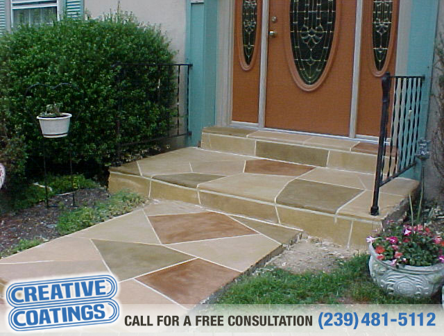 If you are looking for walkway decorative concrete coatings in Bonita Springs Florida