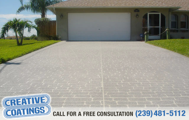 If you are looking for driveway concrete overlays in Cape Coral Florida