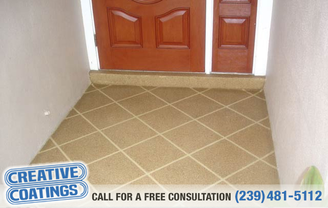 If you are looking for floor decorative concrete coatings in Cape Coral Florida
