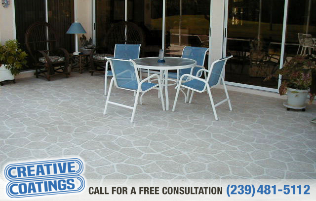 If you are looking for patio concrete overlays in Cape Coral Florida