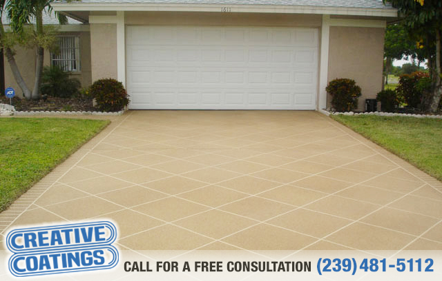 If you are looking for driveway decorative concrete coatings in Lehigh Acres Florida