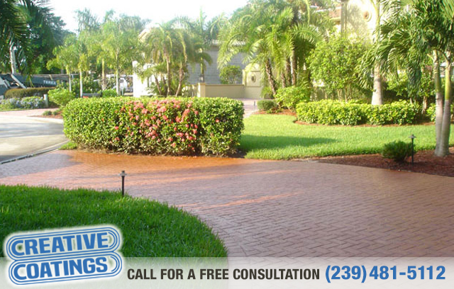 If you are looking for driveway acid stain concrete coatings in Naples Florida