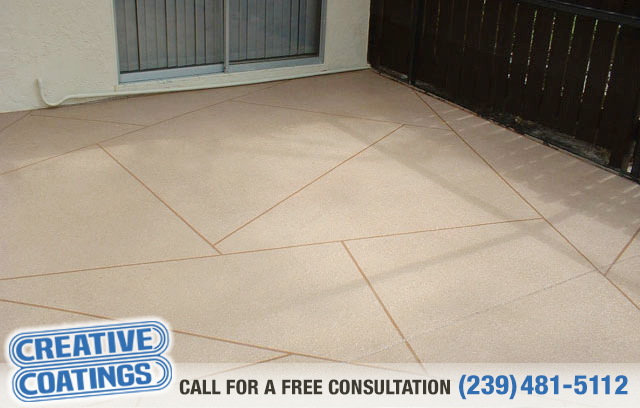 If you are looking for patio decorative concrete coatings in Naples Florida