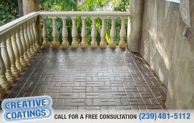 If you are looking for walkway acid stain concrete coatings in Naples Florida