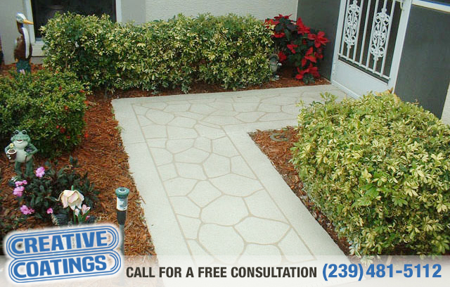 If you are looking for walkway concrete coatings in Naples Florida