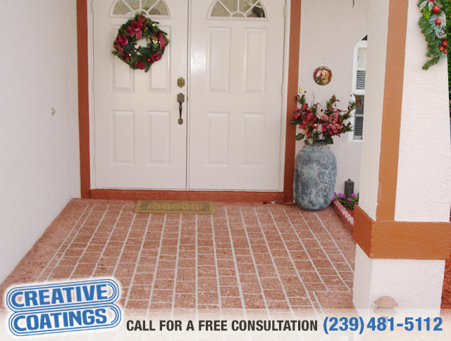 If you are looking for walkway concrete overlays in Naples Florida